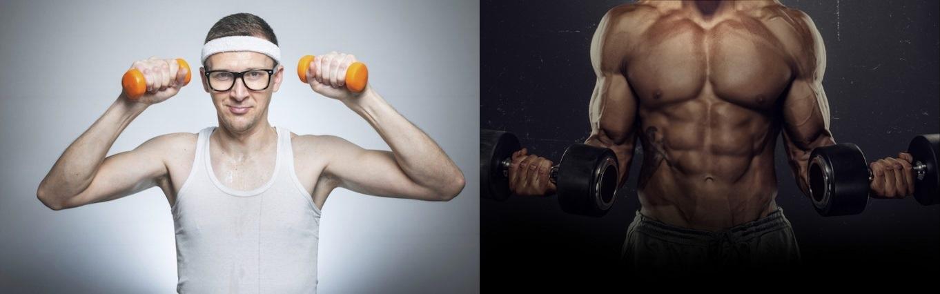 Мускулни влакна, резултат од вежбање со мали тежини VS големи тежини